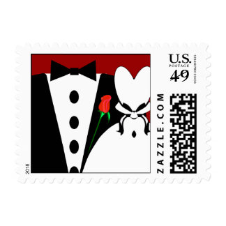 Tux & Gown - Changeable Colors Weddings Postage