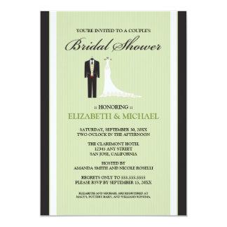 Tux & Gown Couple's Bridal Shower Invitation