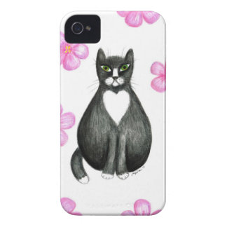 Tux in Flowers case iPhone 4 Covers