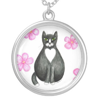 Tux in Flowers necklace