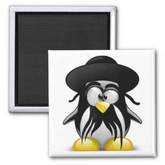 Tux judío (Linux Tux) Imán Cuadrado