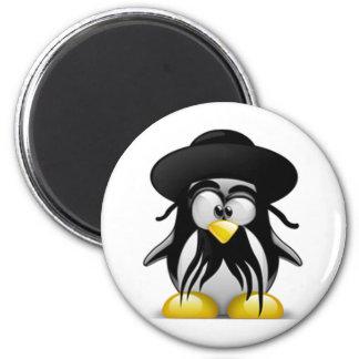 Tux judío (Linux Tux) Imán Redondo 5 Cm