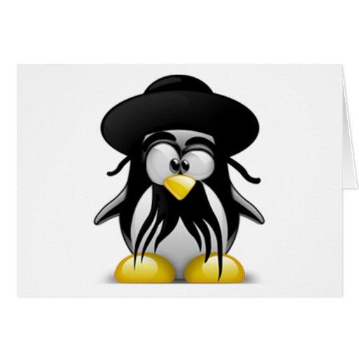 Tux judío (Linux Tux) Tarjeta