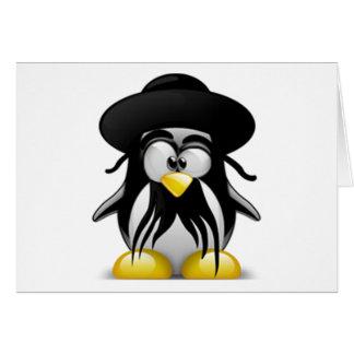 Tux judío (Linux Tux) Tarjeta De Felicitación