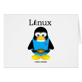 Tux (Linux) Greeting Card