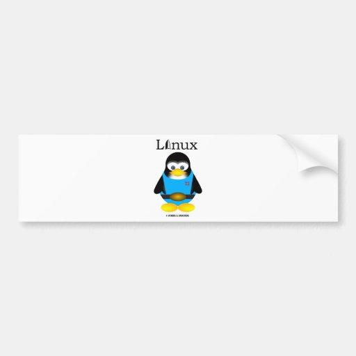 Tux (Linux) Etiqueta De Parachoque