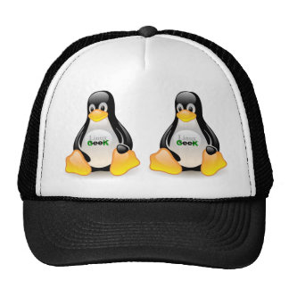 Tux Linux Geek Trucker Hat