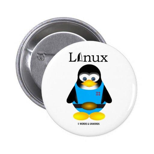 Tux (Linux) Pinback Buttons