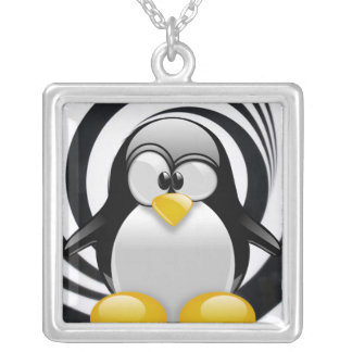 Tux Lost in the Zone Silver Plated Necklace