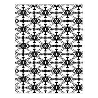 tux pattern postcard