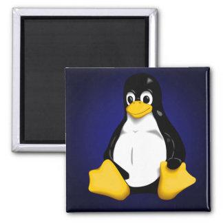 Tux Penguin 2 Inch Square Magnet