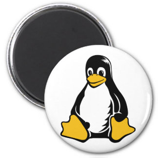 Tux Penguin - (Linux, Open Source, Copyleft, FSF) 2 Inch Round Magnet