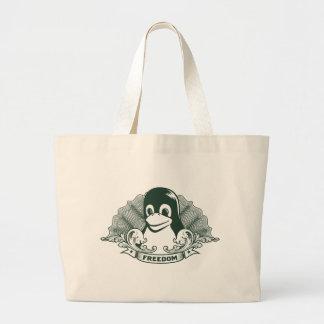 Tux Penguin - (Linux, Open Source, Copyleft, FSF) Tote Bag