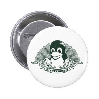 Tux Penguin - (Linux, Open Source, Copyleft, FSF) Button
