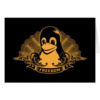 Tux Penguin - (Linux, Open Source, Copyleft, FSF) Greeting Card