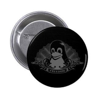 Tux Penguin - (Linux, Open Source, Copyleft, FSF) Pinback Button