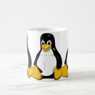 Tux Repeating Pattern Classic White Coffee Mug