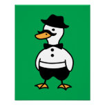Tux rico el pato posters
