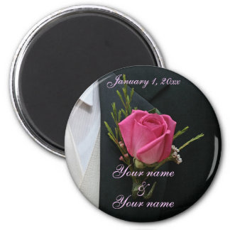 Tux & Rose Save the Date Magnet