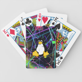 TUX Scribbles Bicycle Playing Cards