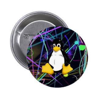 TUX Scribbles Pinback Button
