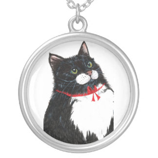 Tux Silver Plated Necklace