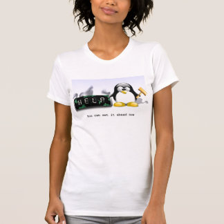 Tux-smash-clock T-Shirt