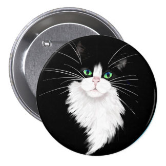 TUX-Tuxedo cats rock Button