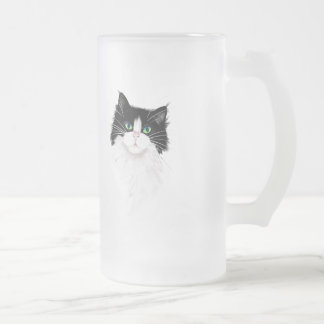 TUX-Tuxedo cats rock Frosted Glass Beer Mug