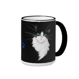 TUX-Tuxedo cats rock Ringer Mug