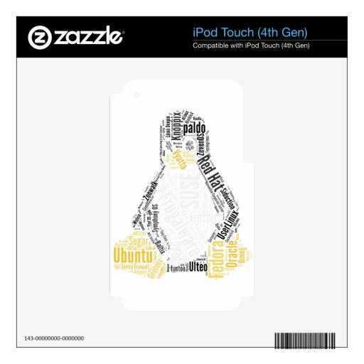 Tux Typo iPod Touch 4G Skins