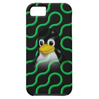 Tux verde Truchet iPhone 5 Fundas