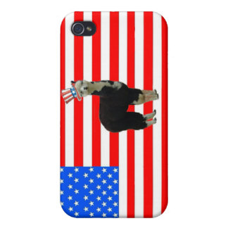 Tuxedo alpaca 4th of July I Cover For iPhone 4