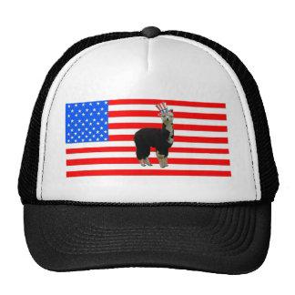 Tuxedo Alpaca 4th of July Trucker Hat