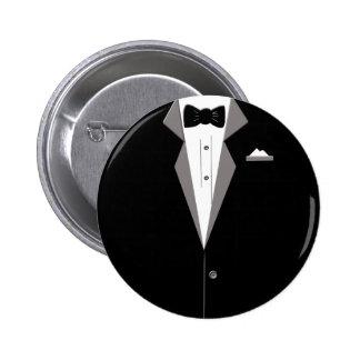 Tuxedo Art 2 Inch Round Button