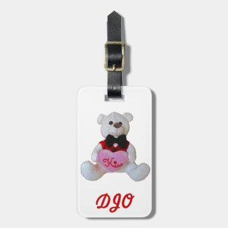 Tuxedo Bear has a kiss for you Bag Tag