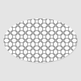 Tuxedo Black and White Pring PT 1 Oval Sticker