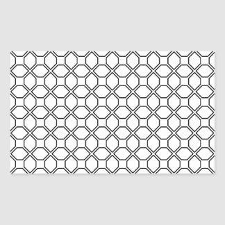 Tuxedo Black and White Pring PT 1 Rectangular Sticker