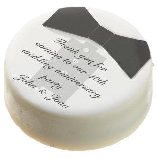 Tuxedo Black Bow Tie Wedding or Anniversary Party Chocolate Covered Oreo