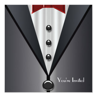 Tuxedo Black Tie Formal Event Black Tie Party Invitation