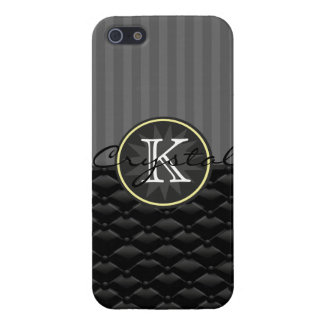 Tuxedo Black Tufted  Circus Stripes Personalized Cover For iPhone SE/5/5s