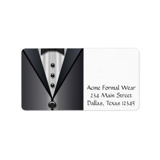 Tuxedo Black & White Address Labels