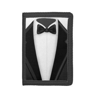 Tuxedo Black White Tri-fold Wallets