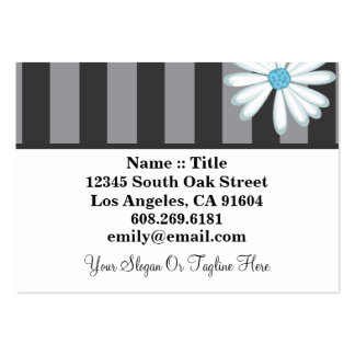 Tuxedo Blues High Fashion Boutique Floral Designer Large Business Cards (Pack Of 100)