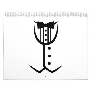 Tuxedo bow tie wall calendar