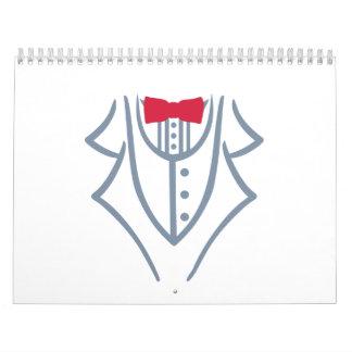 Tuxedo bow tie calendar