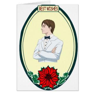 Tuxedo boy, Best Wishes Card