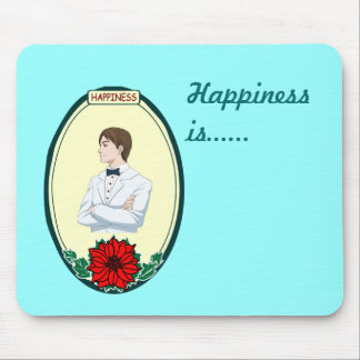 Tuxedo boy - Happiness is ... Mouse Pad