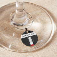Tuxedo Bride's Dad Wedding Wine Charm