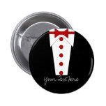 Tuxedo Button (Red)